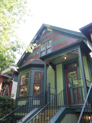 Red and green heritage home